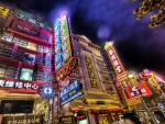 wonderful chinese neon signs hdr