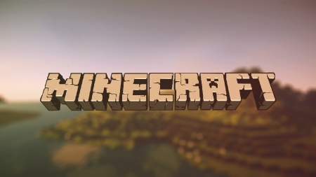 minecraft logo wallpaper other amp video games background