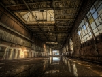 abandoned decaying factory hdr