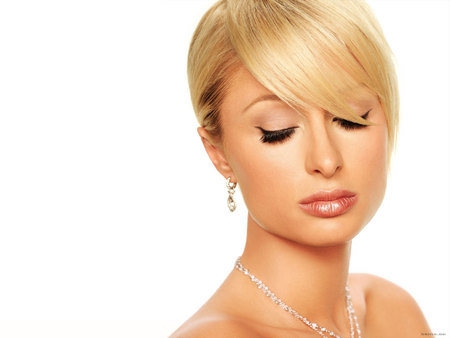 Paris Hilton - diamonds, necklace, paris hilton, blonde, earrings
