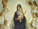 The Virgin With Angels by Bouguereau