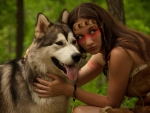 Wolf & Woman two