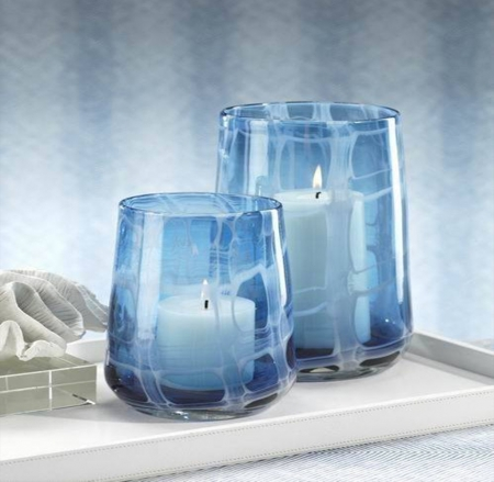 Blue decorative candles Photography Abstract