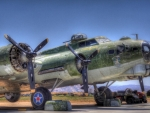 aging B-17 on the tarmac hdr