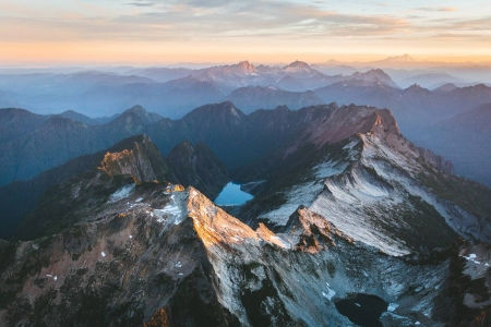 North Cascades sunset - cool, mountains, sunset, nature, fun