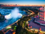 panorama of niagara falls hdr