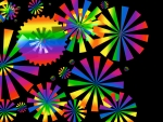 Rainbow Fireworks in multicolor