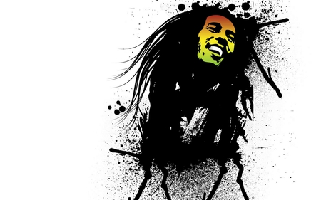 Bob Marley - amazing, face, yellow, rockstar, nice, smile, picture, singer, entertainment, bob marley, green, marley, other, iconic, miss you, star, ganja, drawing, music, colored, beautiful, jamaican, white, red, rasta, jamaica, colorful, reggae, black, inkblots, colors, smoke, bob, famous, dred, hair