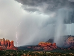 Thunderstorm over Sedona, Arizona