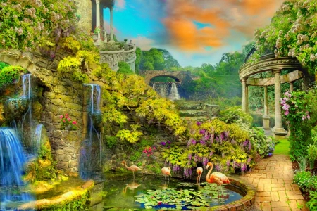 Fantasy garden - Other & Abstract Background Wallpapers on ...