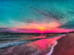 Colorful Beach Sunset