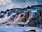 Waterfalls on the Giants Causeway, Northern Ireland
