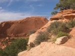View from Wilson Arch, Moab, Utah