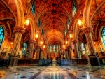 superb church interior hdr