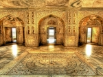 akbars royal bathing chamber near agra india hdr