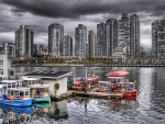 aquabus in vancouver harbor hdr