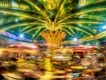 a small carousel in motion hdr