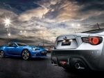 subaru brz cars on the street