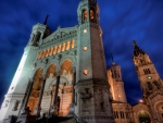 fantastic church facade from low angle hdr