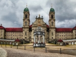 magnificent einsiedeln abbey in switzerland hdr