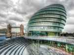 the scoop amphitheater under london city hall hdr