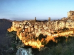 medieval town of sorano in tuscany