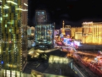 view of the vegas strip at night hdr