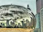 mercury blob sculpture in chicago hdr