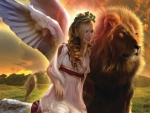 Angel and Lion