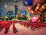 jay pritzker pavilion in chicago hdr