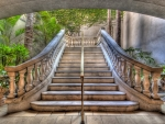 beautiful granite stairs hdr