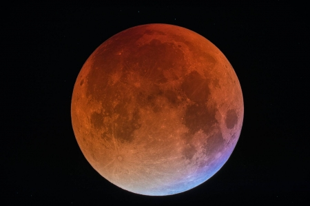 A Blue Blood Moon - moon, space, cool, fun