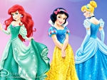 Ariel, Snow White and Cinderella