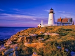 lovely pemaquid lighthouse on main cliffs hdr