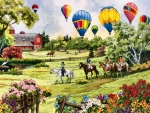 Balloons Over the Pasture F