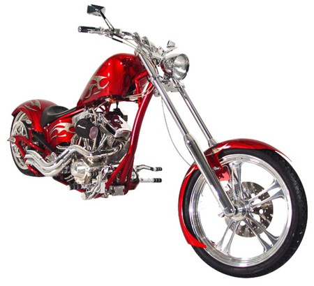Costom Chopper  - chopper, bike, red