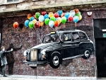 london cab as street art