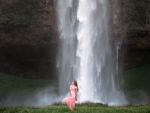 Model in Front of Waterfall (Iceland)
