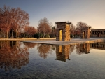 egyptian temple of debod in madrid