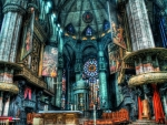 magnificent church alter hdr