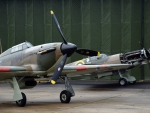Vintage WWII Hurricane and Spitfire