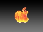 apple in fire