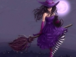 Pretty Purple Witch