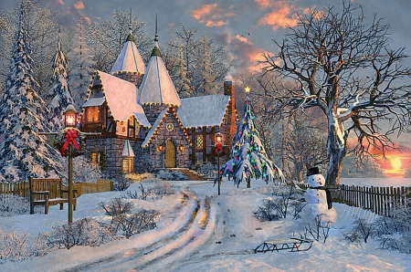 christmas cottage f5mp houses amp architecture background