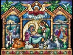 Stained Glass Nativity F1mp