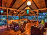 lovely wooden terrace in the tropics hdr