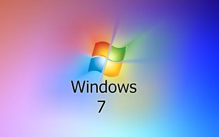 Wallpaper 30 - Windows 7 - green, 7, windows, windows 7, blue, vista, yellow, seven, red, microsoft, rainbow