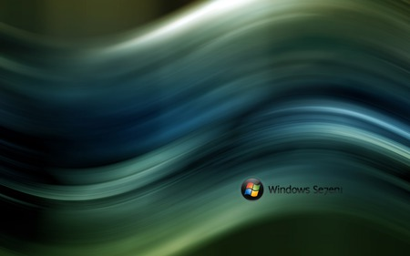Wallpaper 57 - Windows 7 - green, 7, windows, windows 7, balll, vista, dark, seven, wave, microsoft
