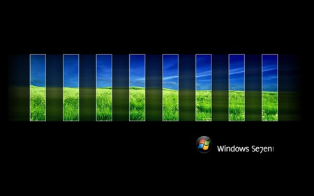 Wallpaper 60 - Windows 7 - green, 7, windows, windows 7, blue, vista, ball, seven, glass, microsoft