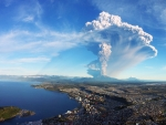 calbuco volcano eruption in chile